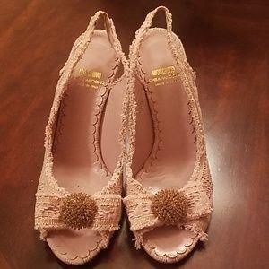 Vintage Moschino sling back heels